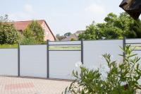 Sichtschutzzaun Aluminium silbergrau 180/180