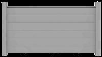 Sichtschutzzaun Aluminium silbergrau 180/90