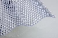 Lichtplatte Sonderposten wabenstruktur 2,5mm PVC/Acrylglas-Optik