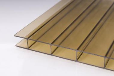 Stegdoppelplatten aus Acryglas 16mm bronze