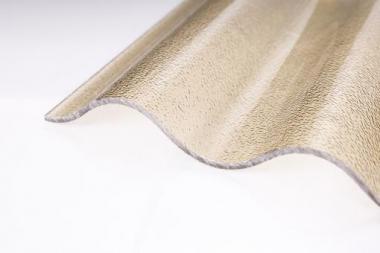 Lichtplatte Acryl 3mm wabe bronze c-struktur