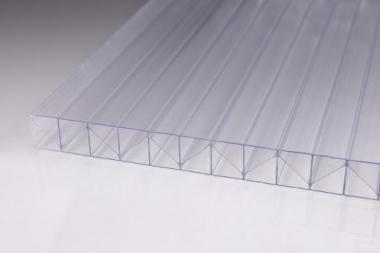 Stegplatten aus Polycarbonat 16mm Fachwerk klar