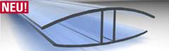 H-Verbindungsprofil Polycarbonat für 16mm Stegplatten 6000mm