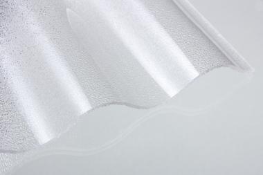 Lichtplatte Acrylglas Sinus 76/18 Acrylglas 3,0 mm C-Struktur klar