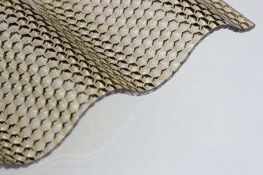 Lichtplatte Acrylglas Sinus 76/18 Wabe bronce 3,0 mm