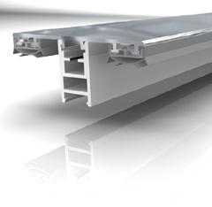 Mendiger Aluminium-Mittelprofil 16mm / 60mm Breite Perlgrim