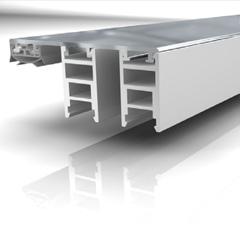 Mendiger Aluminium-Randprofil 6-11mm / 70mm Breite Weiß