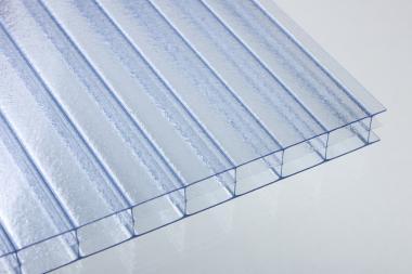 Stegdreifachplatten aus Polycarbonat 16 mm CRYSTAL-BLUE