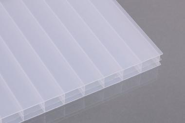 Stegdreifachplatten aus Polycarbonat 16 mm opal