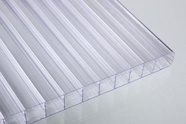 Stegplatten aus Polycarbonat 16 mm X-Struktur Standard klar