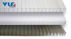 Stegfünffachplatten aus Polycarbonat bronce 25 mm