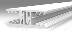 Kunststoffprofil Zevener Sprosse Mitte 16mm / 70mm Breite
