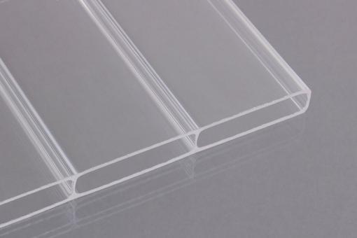 16mm Stegdoppelplatten Acrylglas klar -Breitkammer