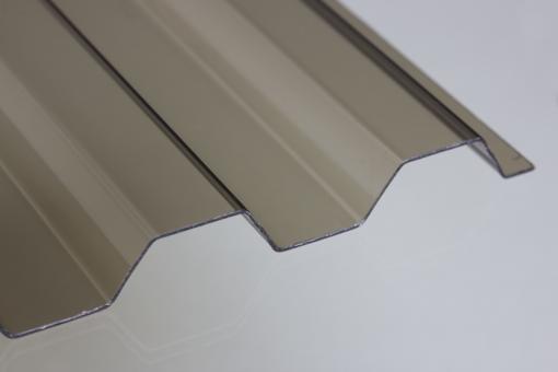 Lichtplatte PVC SOLLUX Trapezprofil 70/18 bronze