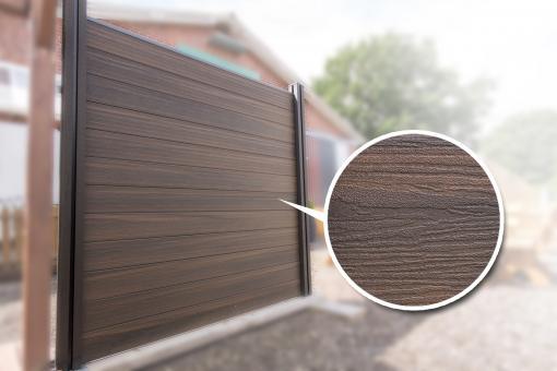 BPC Sichtschutzelement GroJaSolid 180 x 180 x 1,9cm walnuss co-ex.