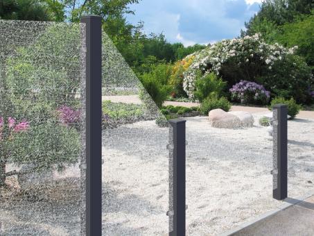 Sichtschutzzaun Glas Eisblume  90/180