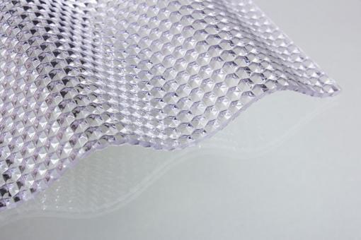 Lichtplatte Acrylglas Sinus 76/18 Acrylglas 3,0 mm Wabe klar