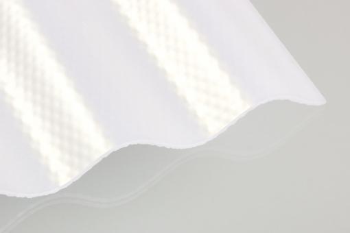 Lichtplatte Acrylglas Sinus 76/18 Acrylglas 3,0 mm Wabe KLIMA-BLUE