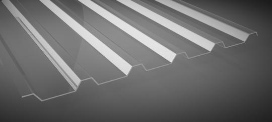 Lichtplatten Polycarbonat 1mm Trapezprofil 35/207