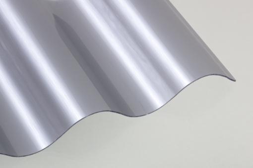 Wellplatten Lichtplatten Polycarbonat silber-metallic