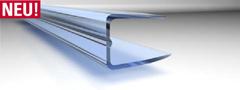 U-Abschlussprofil Polycarbonat für 10mm Stegplatten 2100mm