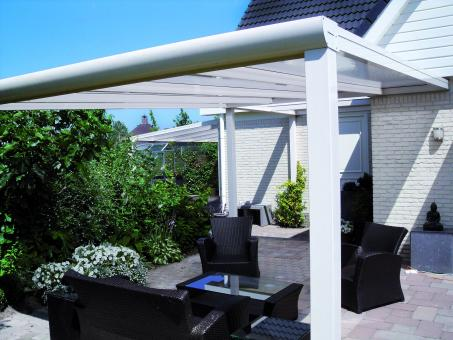 Alu Terrassendach mit 8mm VSG Glas 4000mm x 3500mm
