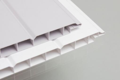 PVC Wand- u. Deckenpaneele 16/200 hellgrau