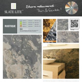 Slate-Lite Dünnschiefer Wandpaneele Rustique 122x61