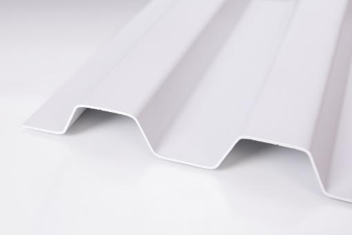 Lichtplatte PVC SOLLUX Trapezprofil 70/18 grau-opak