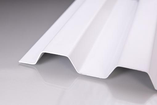 Lichtplatte PVC SOLLUX Trapezprofil 70/18 weiß-opak