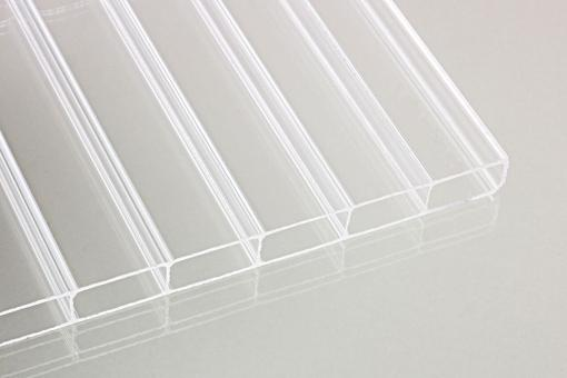 Stegdoppelplatten aus Acrylglas 16 mm klar