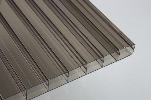 Stegdreifachplatten aus Polycarbonat 16 mm bronze