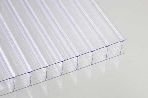 Stegfünffachplatten aus Polycarbonat klar 25 mm