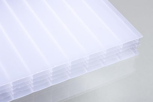 Stegfünffachplatten aus Polycarbonat opal 25 mm