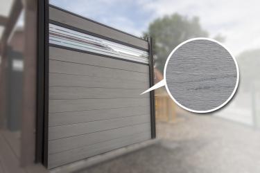BPC Sichtschutzelement GroJaSolid 180 x 180 x 1,9cm bi-color weiß