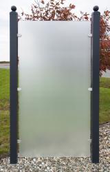Sichtschutzzaun Glas satinert  90/180