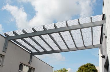 Wellplatten Lichtplatten Polycarbonat Wabenstruktur - hagelsicher