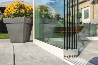 Glasschiebewand 4000mm Länge - Einbauhöhe 2000mm