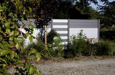Sichtschutzzaun Aluminium anthrazit 180/180