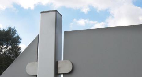 Sichtschutzzaun HPL Uni-Grau 90/180