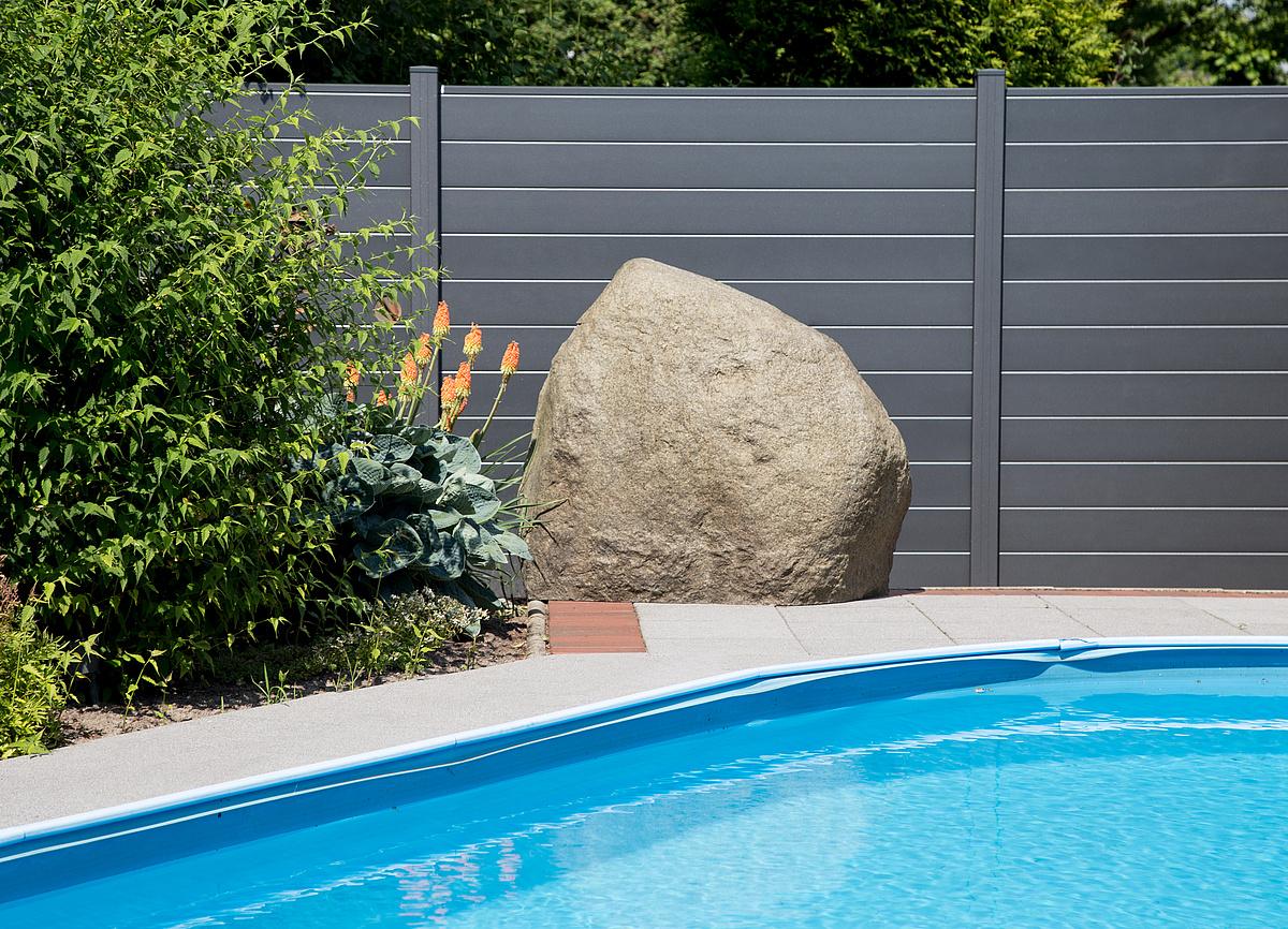 Sichtschutzzaun Aluminium Anthrazit 180 180 Kaufen Dachplatten24