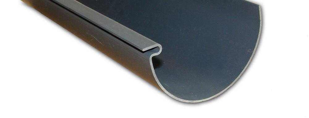 pvc dachrinnen komplettpaket 10 00 m dachplatten24. Black Bedroom Furniture Sets. Home Design Ideas