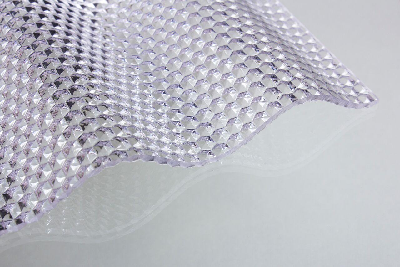 lichtplatte acrylglas sinus 76 18 acrylglas 3 0 mm wabe klar dachplatten24. Black Bedroom Furniture Sets. Home Design Ideas