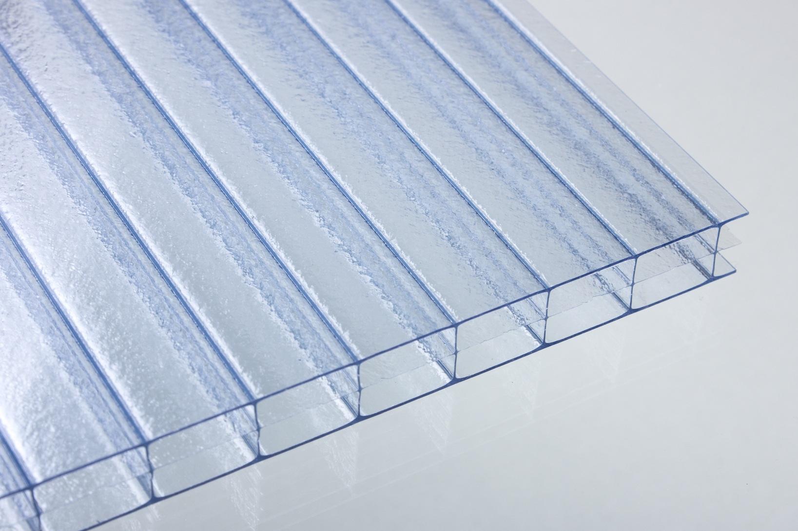 stegdreifachplatten aus polycarbonat 16 mm crystal blue dachplatten24. Black Bedroom Furniture Sets. Home Design Ideas