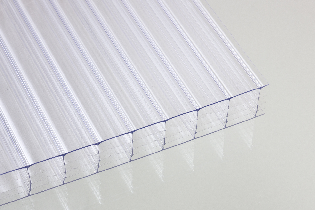stegf nffachplatten aus polycarbonat klar 25 mm dachplatten24. Black Bedroom Furniture Sets. Home Design Ideas